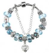 Браслет Pandora Style Муранское стекло арт.7501